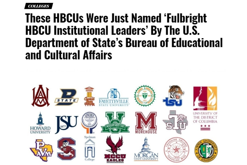 Screenshot of Watch the Yard article about HBCU Institutional Leaders initiative with logos of colleges and universities